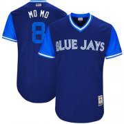 "Wholesale Cheap Blue Jays #8 Kendrys Morales Navy ""MO MO"" Players Weekend Authentic Stitched MLB Jersey"