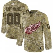 Wholesale Cheap Men's Adidas Red Wings Personalized Camo Authentic NHL Jersey
