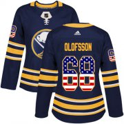 Wholesale Cheap Adidas Sabres #68 Victor Olofsson Navy Blue Home Authentic USA Flag Women's Stitched NHL Jersey