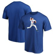 Wholesale Cheap Los Angeles Dodgers #85 Dustin May Majestic Big Red T-Shirt Royal