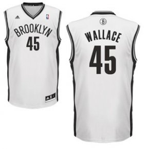 Wholesale Cheap Brooklyn Nets #45 Gerald Wallace White Swingman Jersey