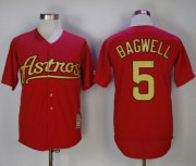 Wholesale Cheap Astros #5 Jeff Bagwell Red 2002-2012 Turn Back The Clock Stitched MLB Jersey