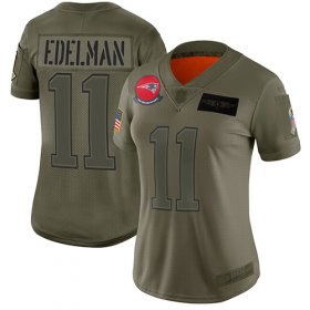 Wholesale Cheap Nike Patriots #11 Julian Edelman Camo Women\'s Stitched NFL Limited 2019 Salute to Service Jersey