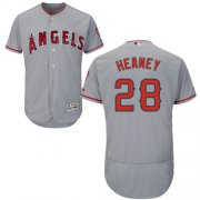 Wholesale Cheap Angels of Anaheim #28 Andrew Heaney Grey Flexbase Authentic Collection Stitched MLB Jersey