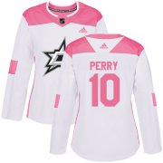 Cheap Adidas Stars #10 Corey Perry White/Pink Authentic Fashion Women's Stitched NHL Jersey