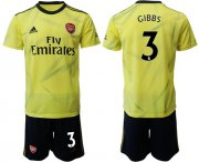 Wholesale Cheap Arsenal #3 Gibbs Yellow Soccer Club Jersey