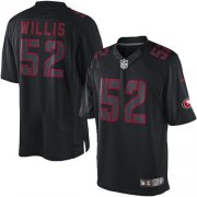 Wholesale Cheap Nike 49ers #52 Patrick Willis Black Men's Stitched NFL Impact Limited Jersey