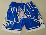 Wholesale Cheap Men's Orlando Magic Blue Big Face Mitchell Ness Hardwood Classics Soul Swingman Throwback Shorts