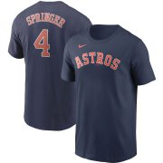 Wholesale Cheap Houston Astros #4 George Springer Nike Name & Number Team T-Shirt Navy