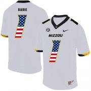 Wholesale Cheap Missouri Tigers 1 Tyler Badie White USA Flag Nike College Football Jersey