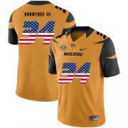 Wholesale Cheap Missouri Tigers 34 Larry Rountree III Gold USA Flag Nike College Football Jersey