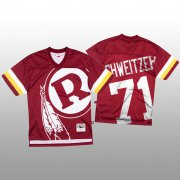 Wholesale Cheap NFL Washington Redskins #71 Wes Schweitzer Red Men's Mitchell & Nell Big Face Fashion Limited NFL Jersey
