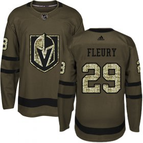 Wholesale Cheap Adidas Golden Knights #29 Marc-Andre Fleury Green Salute to Service Stitched Youth NHL Jersey