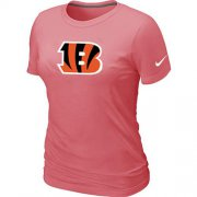 Wholesale Cheap Women's Nike Cincinnati Bengals Pink Logo T-Shirt
