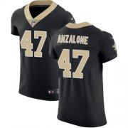 Wholesale Cheap Nike Saints #47 Alex Anzalone Black Team Color Men's Stitched NFL Vapor Untouchable Elite Jersey