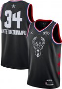 Wholesale Cheap Jordan Men's 2019 NBA All-Star Game #34 Giannis Antetokounmpo Black Dri-FIT Swingman Jersey