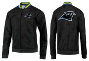 Wholesale Cheap NFL Carolina Panthers Team Logo Jacket Black_3