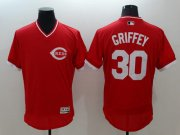 Wholesale Cheap Reds #30 Ken Griffey Red Flexbase Authentic Collection Cooperstown Stitched MLB Jersey