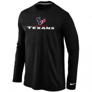 Wholesale Cheap Nike Houston Texans Authentic Logo Long Sleeve T-Shirt Black