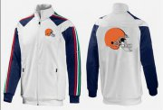 Wholesale Cheap NFL Cleveland Browns Team Logo Jacket White_1