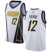 Wholesale Cheap Nike Pacers #12 Tyreke Evans White NBA Swingman Earned Edition Jersey