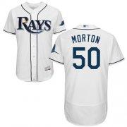 Wholesale Cheap Rays #50 Charlie Morton White Flexbase Authentic Collection Stitched MLB Jersey