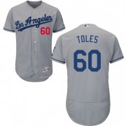 Wholesale Cheap Dodgers #60 Andrew Toles Grey Flexbase Authentic Collection Stitched MLB Jersey