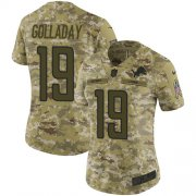 Wholesale Cheap Nike Lions #19 Kenny Golladay Camo Women's Stitched NFL Limited 2018 Salute to Service Jersey