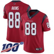 Wholesale Cheap Nike Texans #88 Jordan Akins Red Alternate Youth Stitched NFL 100th Season Vapor Untouchable Limited Jersey