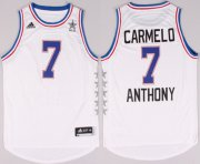 Wholesale Cheap 2015 NBA Eastern All-Stars #7 Carmelo Anthony Revolution 30 Swingman White Jersey