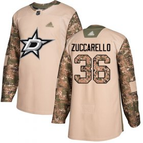 Wholesale Cheap Adidas Stars #36 Mats Zuccarello Camo Authentic 2017 Veterans Day Stitched NHL Jersey