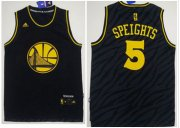 Wholesale Cheap Golden State Warriors #5 Marreese Speights Black Precious Metals Fashion Stitched NBA Jersey