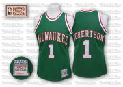 Wholesale Cheap Milwaukee Bucks #1 Oscar Robertson Green Swingman Throwback Jersey