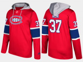 Wholesale Cheap Canadiens #37 Antti Niemi Red Name And Number Hoodie
