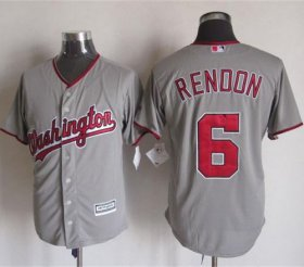 Wholesale Cheap Nationals #6 Anthony Rendon Grey New Cool Base Stitched MLB Jersey