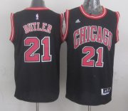 Wholesale Cheap Chicago Bulls #21 Jimmy Butler Revolution 30 Swingman 2014 New Black Jersey