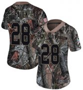 Wholesale Cheap Nike Colts #28 Marshall Faulk Camo Women's Stitched NFL Limited Rush Realtree Jersey