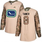 Wholesale Cheap Adidas Canucks #8 Christopher Tanev Camo Authentic 2017 Veterans Day Stitched NHL Jersey