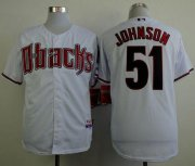 Wholesale Diamondbacks #51 Randy Johnson White Cool Base Stitched Baseball Jersey