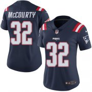Wholesale Cheap Nike Patriots #32 Devin McCourty Navy Blue Women's Stitched NFL Limited Rush Jersey