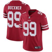 Wholesale Cheap Nike 49ers #99 DeForest Buckner Red Team Color Youth Stitched NFL Vapor Untouchable Limited Jersey