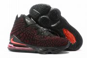 Wholesale Cheap Nike Lebron James 17 Air Cushion Shoes Black Red Red-logo