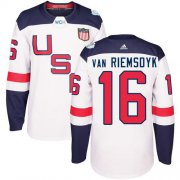 Wholesale Cheap Team USA #16 James van Riemsdyk White 2016 World Cup Stitched Youth NHL Jersey