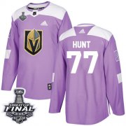 Wholesale Cheap Adidas Golden Knights #77 Brad Hunt Purple Authentic Fights Cancer 2018 Stanley Cup Final Stitched NHL Jersey