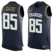Wholesale Cheap Nike Chargers #85 Antonio Gates Navy Blue Team Color Men's Stitched NFL Limited Tank Top Jersey