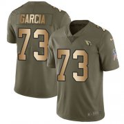 Wholesale Cheap Nike Cardinals #73 Max Garcia Olive/Gold Men's Stitched NFL Limited 2017 Salute To Service Jersey