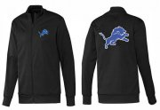 Wholesale Cheap NFL Detroit Lions Team Logo Jacket Black_1