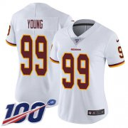 Wholesale Cheap Nike Redskins #99 Chase Young White Women's Stitched NFL 100th Season Vapor Untouchable Limited Jersey