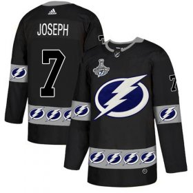 Cheap Adidas Lightning #7 Mathieu Joseph Black Authentic Team Logo Fashion 2020 Stanley Cup Champions Stitched NHL Jersey