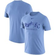 Wholesale Cheap Kansas City Royals Nike MLB Practice T-Shirt Blue